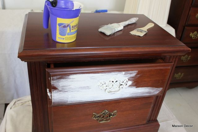 How to Shabby Chic your dark furniture in 2020 | Shabby chic .