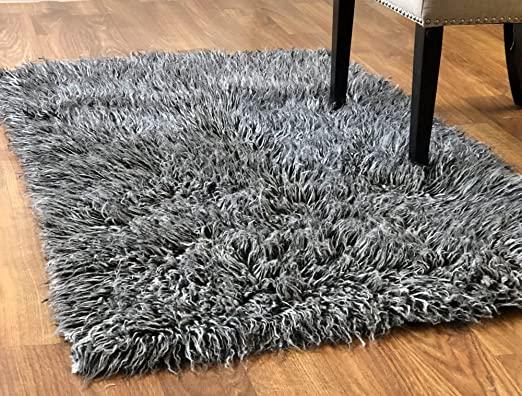 Amazon.com: Super Area Rugs-Cozy Collection-Flokati Wool Shag Rug .