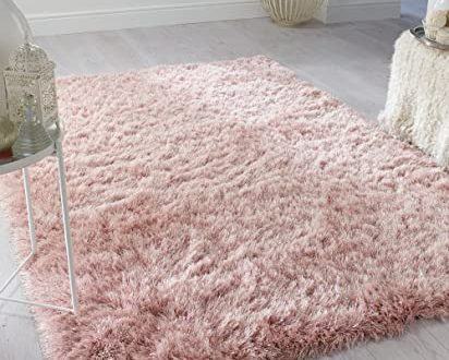 Amazon.com: Dazzle Thick Silky Shiny Shimmer Shaggy Rug Very Soft .