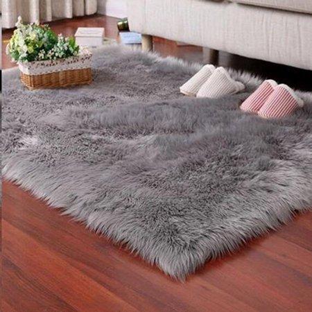 Faux Fur Rug Tayyakoushi Soft Fluffy Rug Shaggy Rugs Faux .