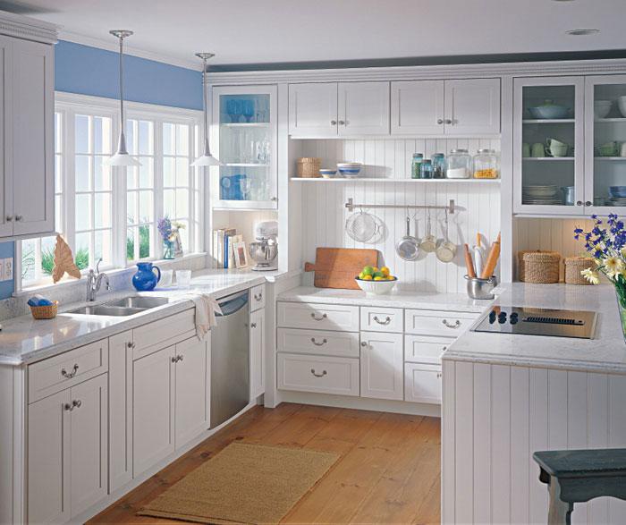 White Shaker Style Kitchen Cabinets - Kemp
