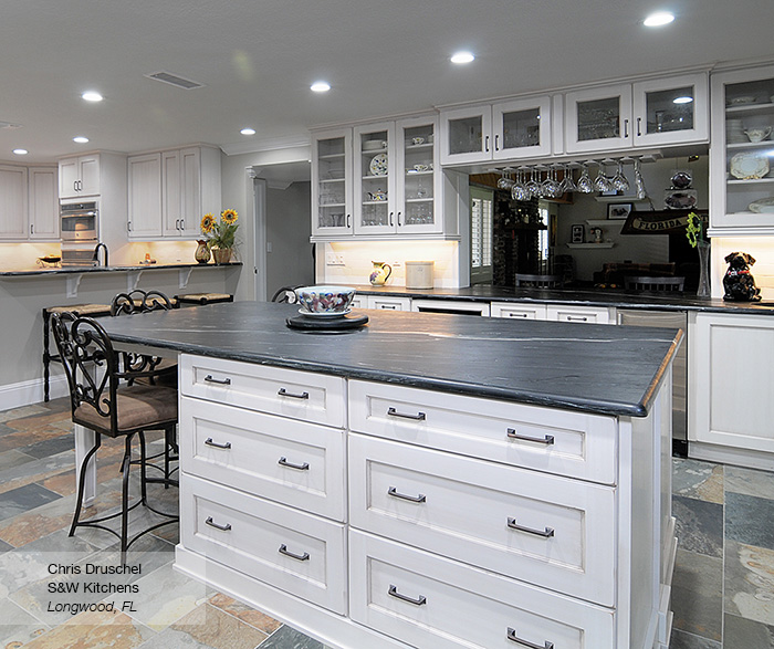 Pearl White Shaker Style Kitchen Cabinets - Ome