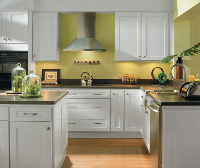 Alpine White Shaker Kitchen Cabinets - Homecre