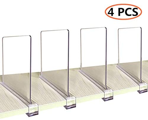 Amazon.com: CY craft Acrylic Shelf Dividers for Closets,Wood Shelf .