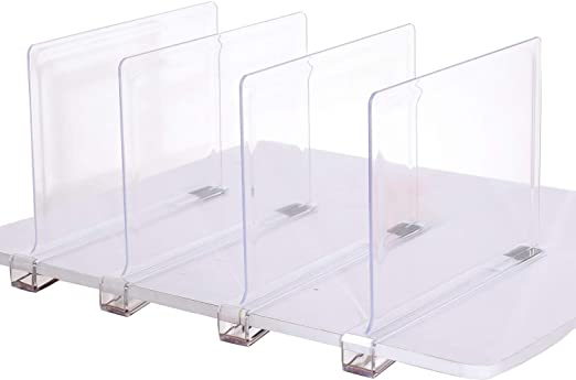 Amazon.com: Sooyee Beautiful 4 PCS Acrylic Shelf Dividers, Perfect .