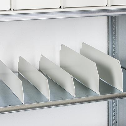 Industrial Short Span Shelving Shelf Dividers 140mm high | SEC Dire