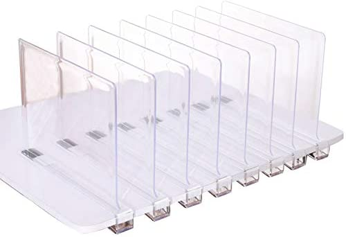 Amazon.com: Sooyee Beautiful 8 PCS Acrylic Shelf Dividers, Perfect .