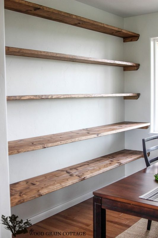 34 DIY Shelving Ideas That Are as Pretty as They Are Practic