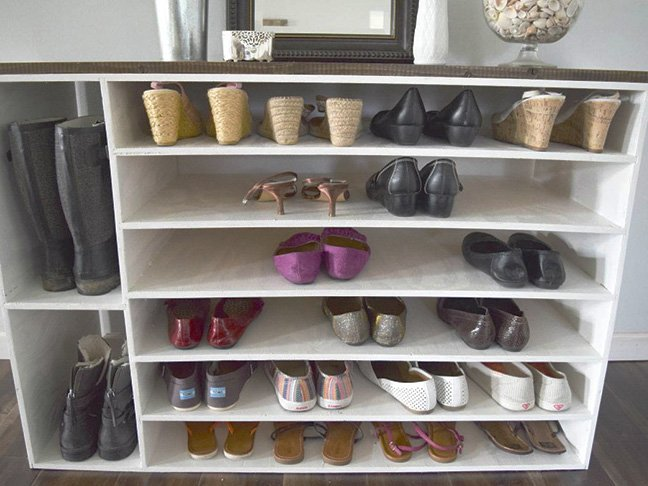 12 Genius DIY Shoe Storage Ide
