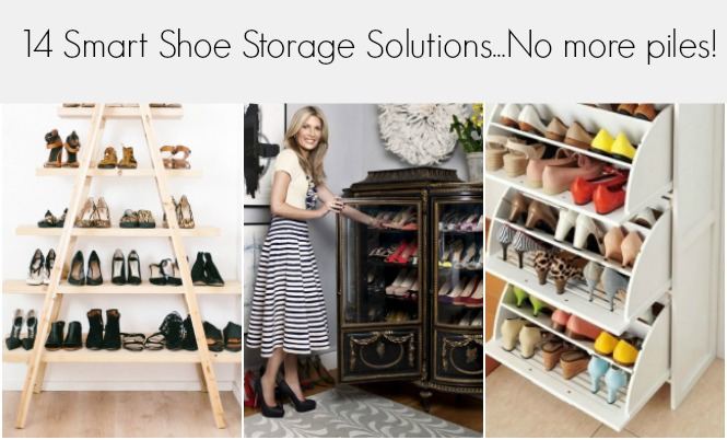 14 Smart Shoe Storage Solutions to Get Rid of Shoe Pil