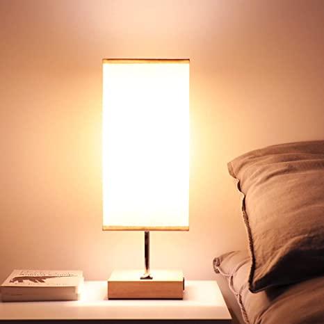 Hamlite Bedside Lamp with USB Port Nightstand Lamp Small Bedroom .