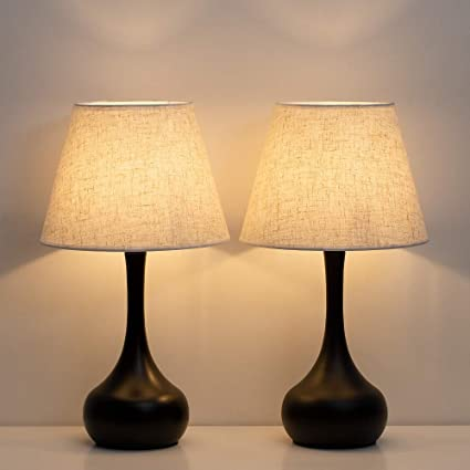 Amazon.com: HAITRAL Nightstand Lamps, Bedside Table Lamps Set of 2 .