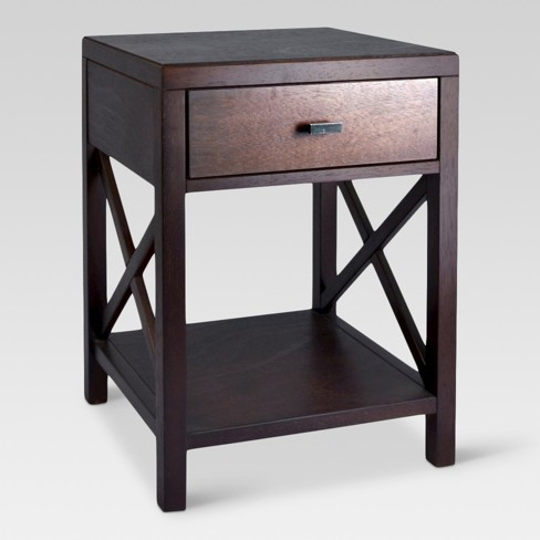 Owings Side Table With Drawer Espresso - Threshold™ : Targ