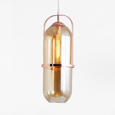 Single Light Capsule Pendant Light Simple Stylish Glass Hanging .
