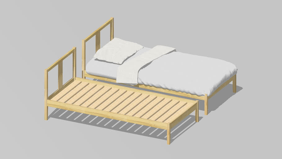 IKEA Fjellse Single Bed Frame | 3D Warehou