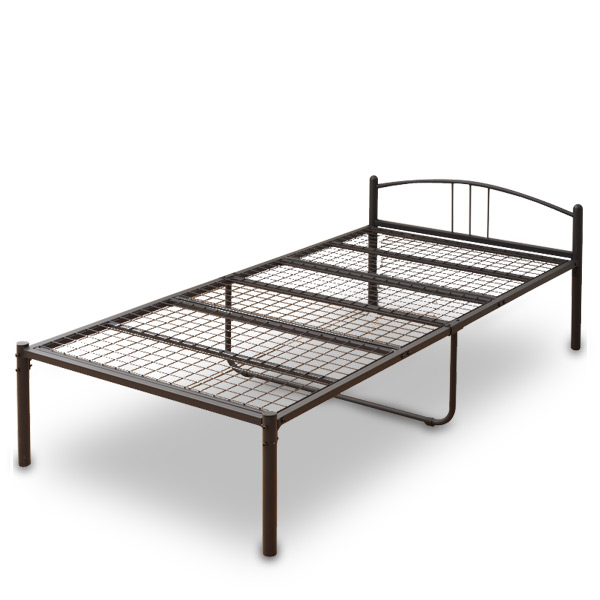 e-kurashi: Bed frame bed single PB3-95195(BK) black single bed low .