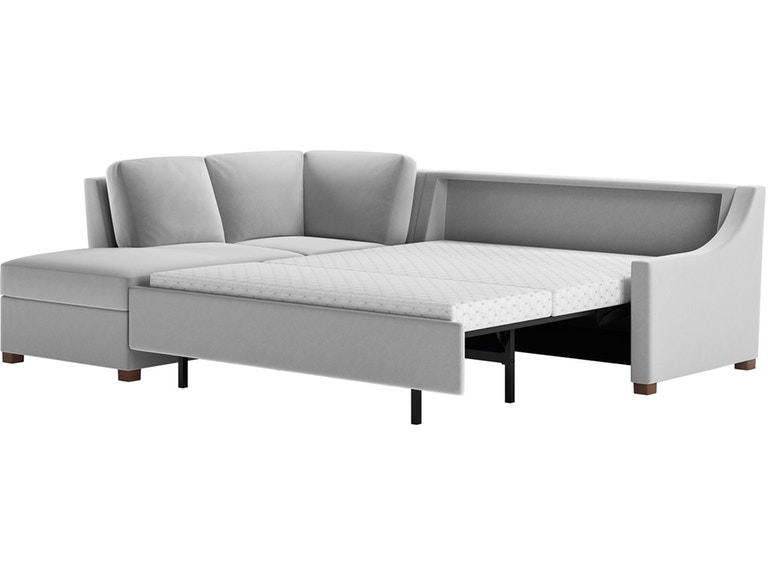 American Leather Living Room 2-Piece Sleeper Sectional - Queen .
