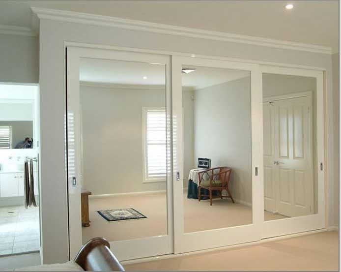 Mirrored closet doors simple design sliding closet door best .