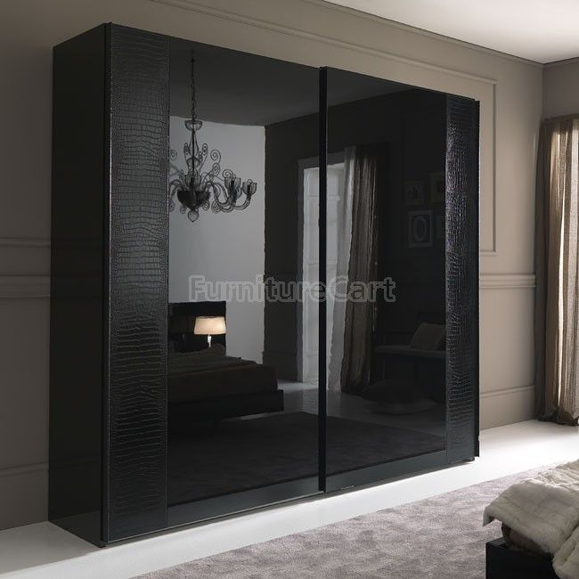 Nightfly Sliding Door Wardrobe (Black) | Wardrobe door designs .