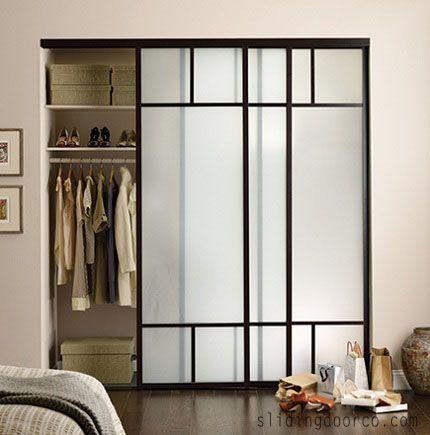 Frosted Glass Closet Doors | Bedroom closet doors, Mirror closet .