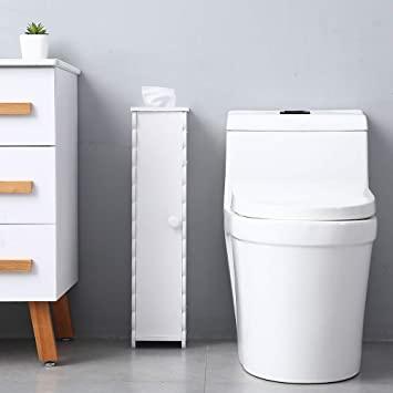 Amazon.com: Bathroom Storage Corner Cabinet Toilet Paper Storage .