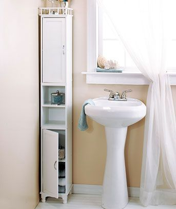 Slim Storage Towers or Baskets | Small bathroom storage, Small .