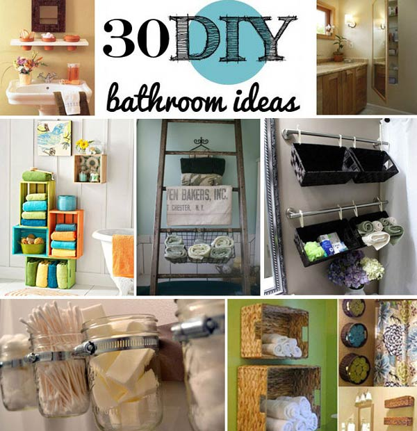 30 Brilliant DIY Bathroom Storage Ideas - Amazing DIY, Interior .
