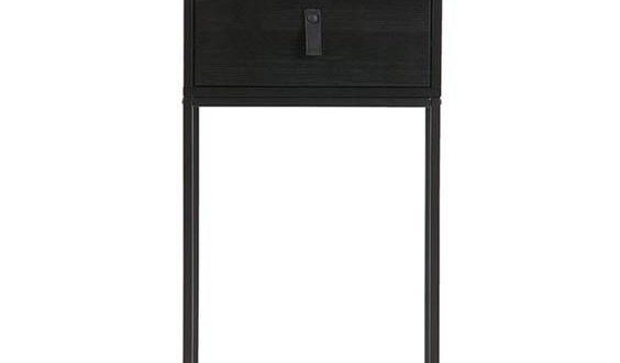 Black small bedside nightstand - £119 - Simple bedside table .