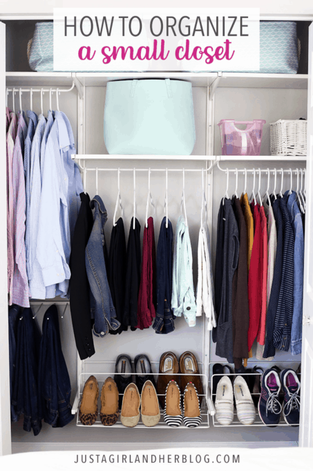 How to Organize a Small Closet | Abby Laws