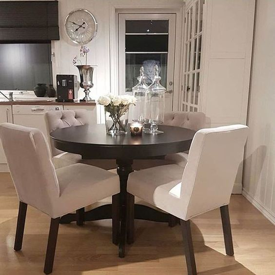 ♡ ᒪOᑌIᔕE ♡ | Small dining room decor, Apartment dining .