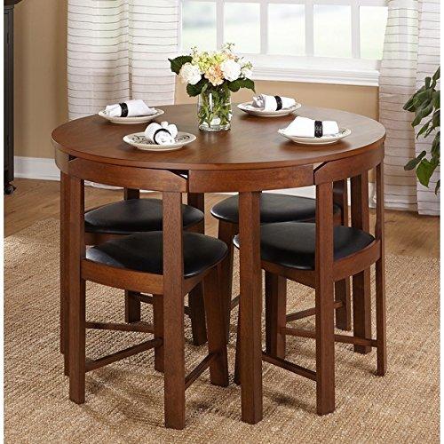 Amazon.com - 5-piece Compact Round Dining Set Home Living Room .