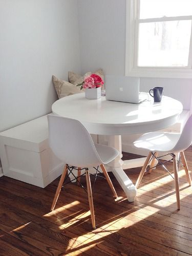 7 Genius Ways to Design a Small Space | Dining corner, Small space .