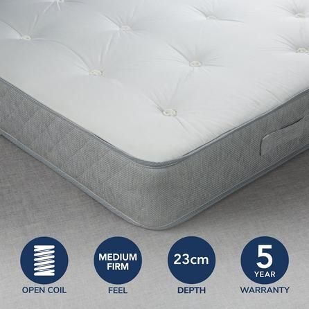 Fogarty Traditional Open Coil Mattress - Medium To Firm Support .