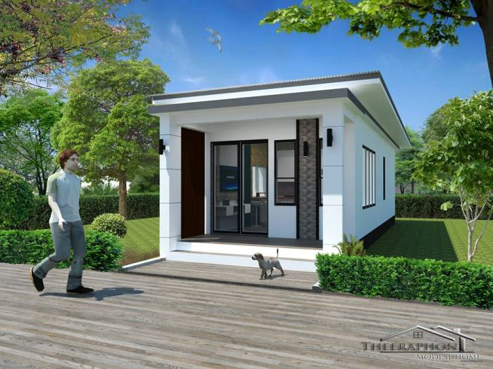Cottage-like one-bedroom house - Pinoy House Pla