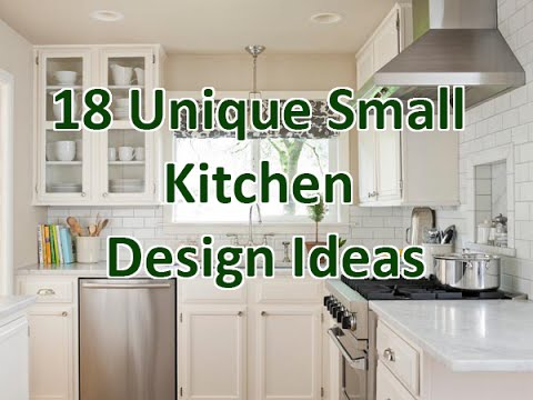 18 Unique Small Kitchen Design Ideas - DecoNatic - YouTu