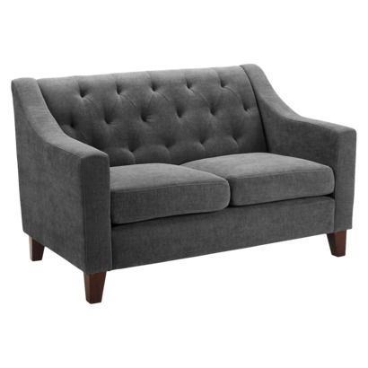 Tufted Loveseat | Tufted loveseat, Small couch, Loveseat living ro