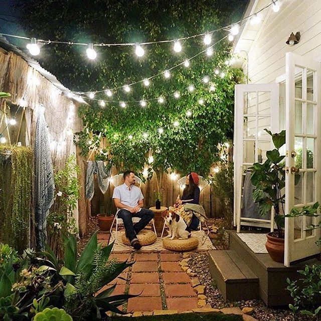 how to make a back garden without grass look green! (domino mag .