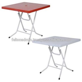 Foldable Plastic Square Table - Buy Plastic Folding Table,Square .