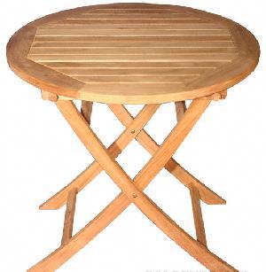 Teak Small Round Folding Table Short Teka Garden Furniture .