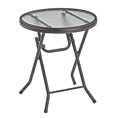 "16"" Round Glass Top Folding Table at Big Lots. 