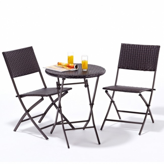 Modern Small Folding Table And Chairs - Father of Trust Desig