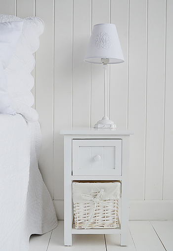 The White Lighthouse Furniture - (Bar Harbor Small Narrow Bedside .