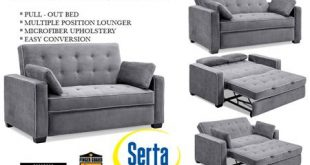 Traditional Couch Futon | Augustine Grey Sofa Sleeper | The Futon Sh