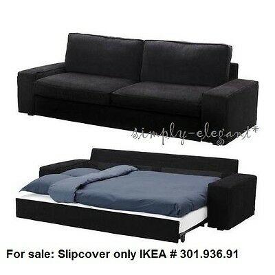 IKEA Kivik Sofa Bed SLIPCOVER Sofabed Cover TRANAS BLACK Tranås .
