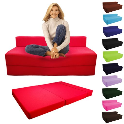 Details about Fold Out Foam Double Guest Z Bed Chair Folding .