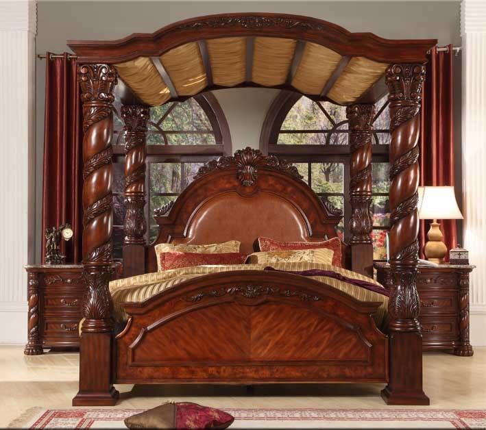 Bisini New Product Wood Bedroom Set,Solid Wood Luxury King Bed .