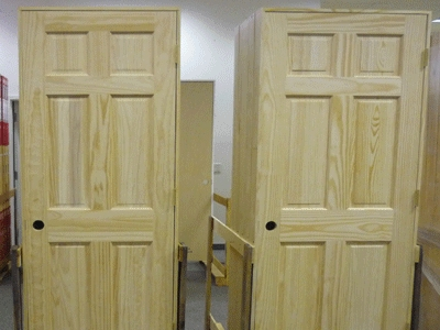 Set of 8 Unfinished Solid Wood Pre-Hung Clear Pine Interior Doo
