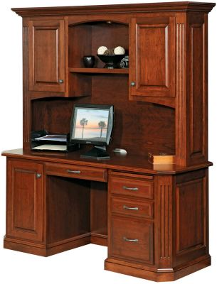 Cavalier Solid Wood Computer Desk - Countryside Amish Furnitu