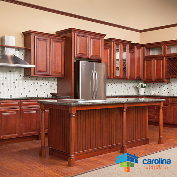 Cherry Cabinets All solid Wood Cabinets 10X10 RTA Kitchen Cabinets .