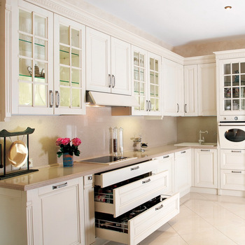 America Solid Wood Kitchen Cabinet With Island Flat Pack Kitchen .